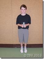 Finn Stammler siegte im Wettbewerb U12