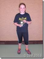 Viktoria Endt war in derselben Jahrgangskonkurenz bei den Mädchen erfolgreich